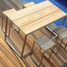 Outdoor dining table bar height Photo - 1