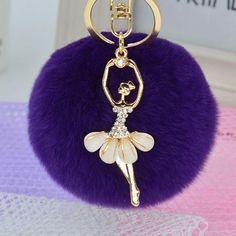 Fairy Pom Pom Charm Key Chain