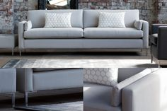 The Metro Sofa can be upholstered in any fabric you desire. Delcor's solid beech sofa frames are made in Britain & guaranteed for 50 years
