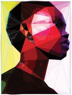 "Saatchi Online Artist: enrico varrasso; Vector, 2012, Digital ""black woman"""