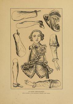 Histoire des jouets Paper Puppets, Paper Toys, Paper Crafts, Diy Crafts, Illustrations, Illustration Art, Toy Theatre, Paper People, Journal Paper