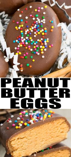 Quick and easy homemade CHOCOLATE PEANUT BUTTER EGGS recipe for Easter, made with 4 simple ingredients. They are no bake, fudgy, creamy and a perfect Reese's peanut butter eggs copycat. From cakewhiz.com #easter #eastereggs #chocolate #peanut #peanutbutter #dessert #dessertrecipes #snacks #partyfood #party #kidscraft