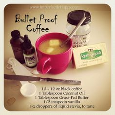 Best way to start the morning - Bullet Proof Coffee! #paleo, #primal, #coffee