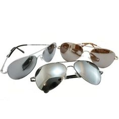 bb7704269a G G Chrome Metal Silver Mirrored Aviator Sunglasses 3 Pair Special Spring  Hinges for only  9.95 You