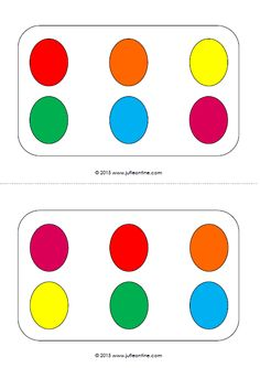 Eieren naleggen kleur. Visuele activiteit voor kleuters bij het thema Pasen.