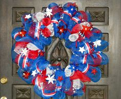 Stars, Stripes and Shine 4th of July Patriotic Wreath