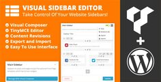 Visual Sidebar Editor for Wordpress (Widgets)
