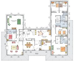 U Shaped House Plans On Home With Unique Floor Plan Pool In Middle Courtyard With Simple U Shaped Property