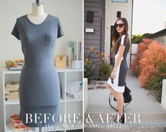 Resizing a too-small dress -- turn it into a chic new dress!