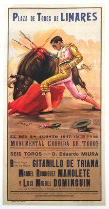 Bullfight, Plaza de Toros de Linares - Manolete - Day of his Death
