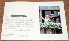 Thank you card wedding Willem-Alexander and Maxima
