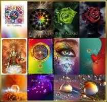 Set of 12 Postcard Prints by Lilyas