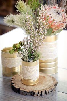 Gallery: Rustic DIY protea wedding centrepiece - Deer Pearl Flowers