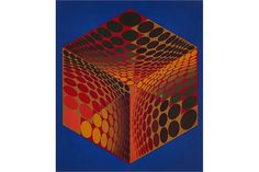 Victor Vasarely, (French/Hungarian, 1906-1997) Untitled, serigraph, signed and numbered in pencil