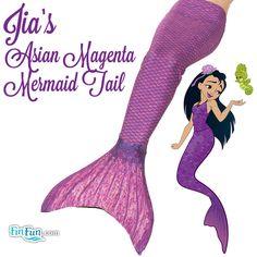 Mermaid Tail in Asian Magenta