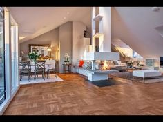 Fresh Scandinavian Attic Apartment With Two Sunny Terraces - YouTube