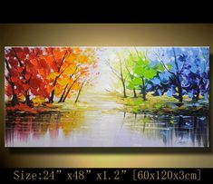 Original Abstract Painting, Modern Textured Painting,  Palette Knife, Home wall art Decor, acrylic art Painting on Canvas  by Chen m082