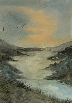 art painting aceo watercolour landscape ref 325 £6.00
