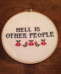 Introvert Subversive Cross Stitch by howwebreathe on Etsy