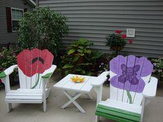 Painted Adirondack Chairs