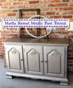 my new paint obsession going to do my dresser Martha Stewart Metallic Paint Tutorial, Petticoat Junktion