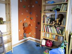 Mini-indoor climbing wall for a child's room. What a great idea! © All rights reserved by Blee Hoffman, from Flickr.