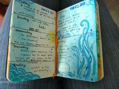 love that this art journal really is a journal of events. What a precious heirloom!