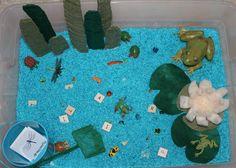 Pond life sensory tub