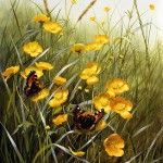 Mary Dipnall Summer wildflowers, Summer flowers, British, self-taught, artist, Portsmouth, painting, England, inspiration, Beautiful, colorful, art, nature