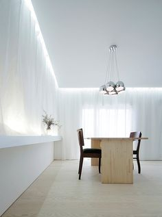 Interior of the House for Installation, Japan by Japanese architect Jun Murata. Arch Interior, Interior And Exterior, Interior Design, Minimalist Interior, Modern Minimalist, Residential Architecture, Interior Architecture, Interior Minimalista, Light And Space