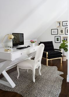 Love this chic office