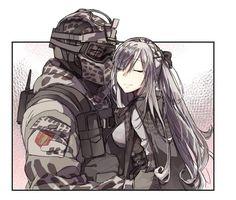 Rainbow Six Siege Art, Rainbow 6 Seige, Rainbow Art, Ak 12, Anime Military, Military Girl, Pretty Anime Girl, Anime Art Girl, Character Art