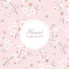 Faire part naissance Cerisiers en fleurs by Mr & Mrs Clynk pour www.fairepartnaissance.fr #rosemood