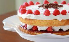 Lemon Drop: Victoria Sponge with Berries & Whipped Cream