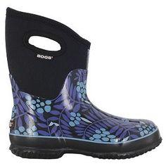 Bogs Women's Classic Winterberry Mid Waterproof Winter Boots (Blue Multi)