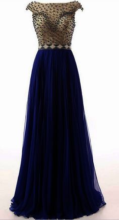 Fashion Dark Blue Cap Short Sleeves Backless Prom Dresses 2016 Beaded Crystal Pleated Designer Long Evening Formal Pageant Dress Gown Custom,PD160291