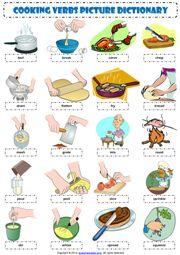 Cooking Verbs ESL Printable Worksheets and Exercises