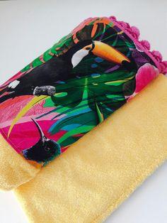 Yellow tukan beach towel