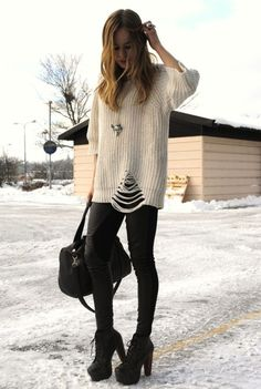 I absolutely love this sweater and these shoes.... I need this outfit!