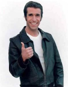 """A leather jacket is a type of clothing, a jacket length coat, usually worn on top of other clothes, and made from the hide of different animals. Arthur Fonzarelli, otherwise known as """"The Fonz"""" on the popular 1970's tv show """"Happy Days"""", which depicts life in a 1950's setting, made the style very popular. The leather material is usually dyed black, or many shades of brown."""