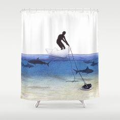 Parting Ways by Lars Furtwaengler   Colored Pencil   2013 Shower Curtain by Lars Furtwaengler - $68.00