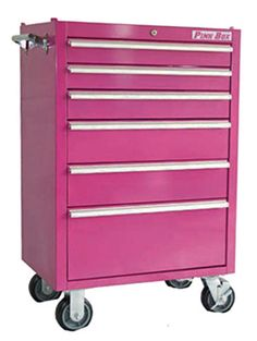 For my future classroom, pink rolling tool cabinet to hold supplies and craft stuff!!