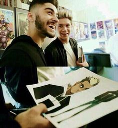 Zayn reaction when he found out that Marvel based a comic off of him.! He's so happy.! Look at him.! :,)