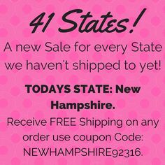 Every Day for the next 18 Days! We are going to post a different Sale for Each State we haven't shipped to! It's the perfect opportunity to get ready for Christmas! If you Know someone in Today's State please Share this post with them! My goal is to get all 50 States by the end of these 41 Days!  Day 23: Todays State is New Hampshire! Receive FREE Shipping on any order placed today! Offer ends at midnight tonight!  Only at loomknittedhats.etsy.com!