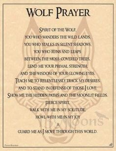 Wolf Prayer Parchment for Book of Shadows Page! pagan wicca witch in Collectibles, Religion & Spirituality, Wicca & Paganism Phrase Cute, Animal Spirit Guides, Wolf Spirit Animal, The Knowing, Wolf Quotes, Book Of Shadows, Spelling, Nativity, Inspirational Quotes