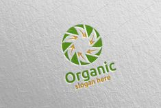 Natural and Organic Logo design template 31 Organic Logo, Company Brochure, Logo Design Template, Travel Aesthetic, School Design, Design Bundles, Free Design, Slogan, Design Elements