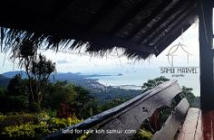 View from a land for sale in Ban Makham Koh Samui