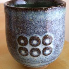 Kamon Samurai Sanada Yukimura. Japanese tea cup.