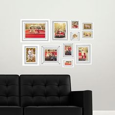 Fill a wall with these fun wall decal photo frames! You could gift these to friend—they look great in a nursery. #homedecor #giftideas