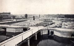 1887 Berlin - Humboldthafen vor dem Stadtbahnbau (mit Lehter Bahnhof)